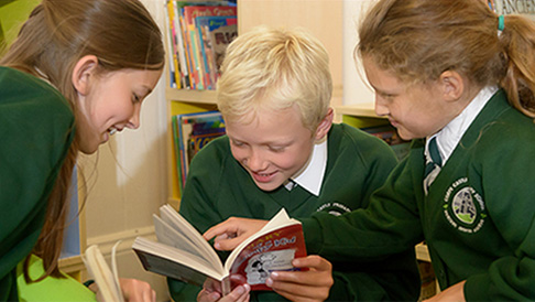 Children from Corfe Castle School, Dorset